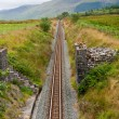 Railway in the mountains of Snowdonia — Stock Photo