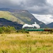 Steam train in Llamberris, Snowdonia, Wales — Stock Photo #6729777