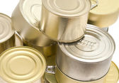 Cans on white — Stock Photo