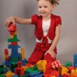 Playing Lego — Stockfoto