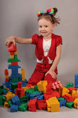 Playing Lego — Stock Photo