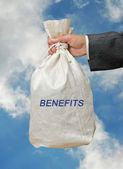 Bag with benefits — Stock Photo