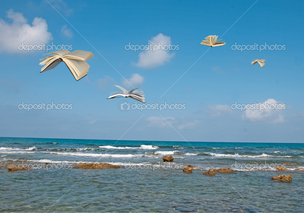Flying books — Stock Photo #6642821