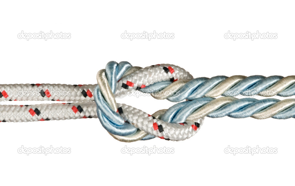 Ropes tied with knot — Stock Photo #6646896
