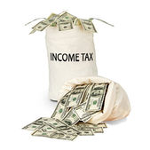 Bag with income tax — Stock Photo