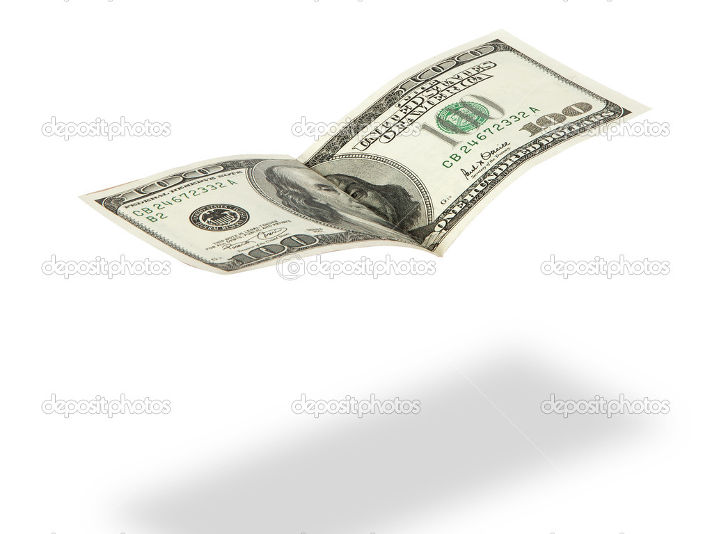 Flaying dollar  Stock Photo #6670694