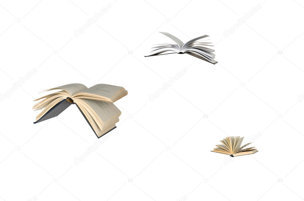 Flying books — Stock Photo #6687260