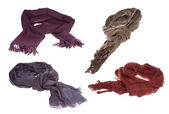 Set with different scarfs — Stock Photo