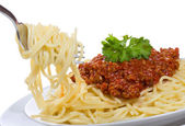 Spaghetti with meat sauce — Stock Photo