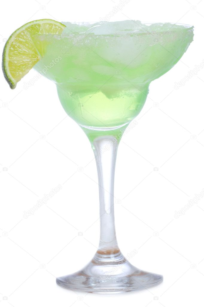 Margarita cocktail on white background — Stock Photo #5447197
