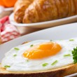 Breakfast with fried egg — Stock Photo #5537221