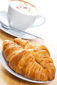 Croissants and coffee — 图库照片