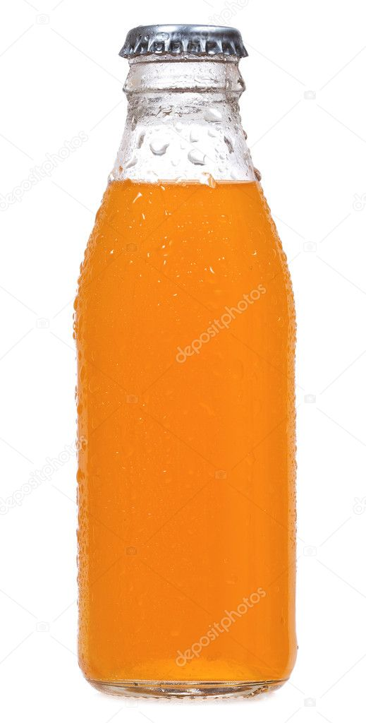 Bottle of orange soda on white background — Stock Photo #5537194