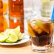 Cocktail with lime and cola — Stock Photo #5835480