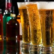 Stock Photo: Beer glasses