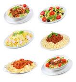 Different pasta and spaghetti — Stock Photo