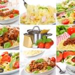 Pasta collage — Stock Photo