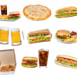 Set mit Fast-Food-Produkte — Stockfoto
