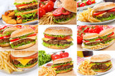 Set with hamburgers — Stock Photo