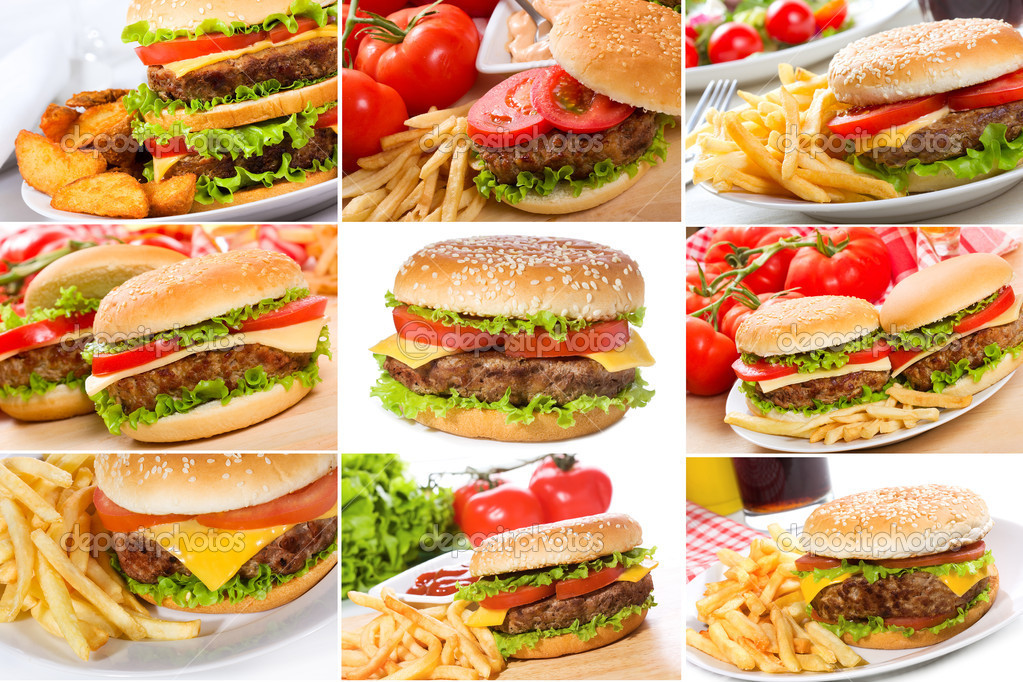 Set with hamburgers  — Stock Photo #6128381
