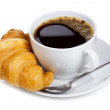 Coffee and croissant — Stock Photo #6522471