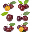 Set with plums — Stock Photo