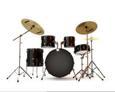 Black drums — Stock Photo
