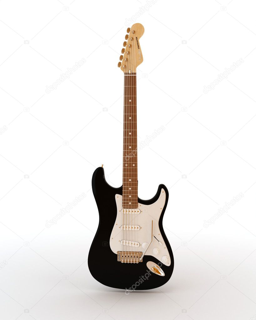 Fender stratocaster electric guitar on a white background — Stock Photo #5582050