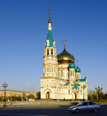Uspenskiy Cathedral.Omsk.Russia — Stock Photo