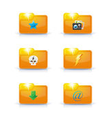 Folder icons — Stock Vector