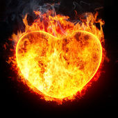 Heart in fire — Stock Photo
