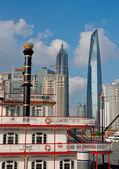 Shanghai pudong vue de puxi — Photo