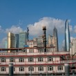 Stock Photo: shanghai pudong view from puxi