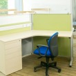 Office desks and blue chairs cubicle set — Stock Photo #6365865