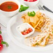 Original Mexican quesadilla de pollo — Stock Photo #6639888