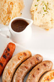 Selection of all main type of german wurstel saussages — Stock Photo