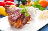 Original German BBQ pork knuckle — Stock Photo