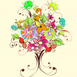Bouquet of flowers — Imagen vectorial