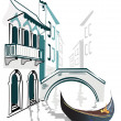 Set of Italian sights — Imagen vectorial