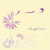 Fleur décorative en lignes — Vecteur