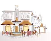 Café de rue — Vecteur