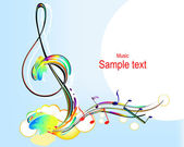 Colorful music — Vector de stock