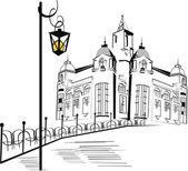 Szkice ulic w mieście — Wektor stockowy