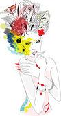 Carnival girl — Stock Vector