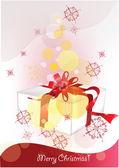 Fundo de natal com presentes de natal — Vetorial Stock