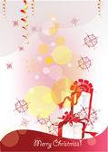 Kerstmis achtergrond met giften van kerstmis — Stockvector