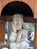 Charming in its simplicity sculpture of Christ — Stockfoto