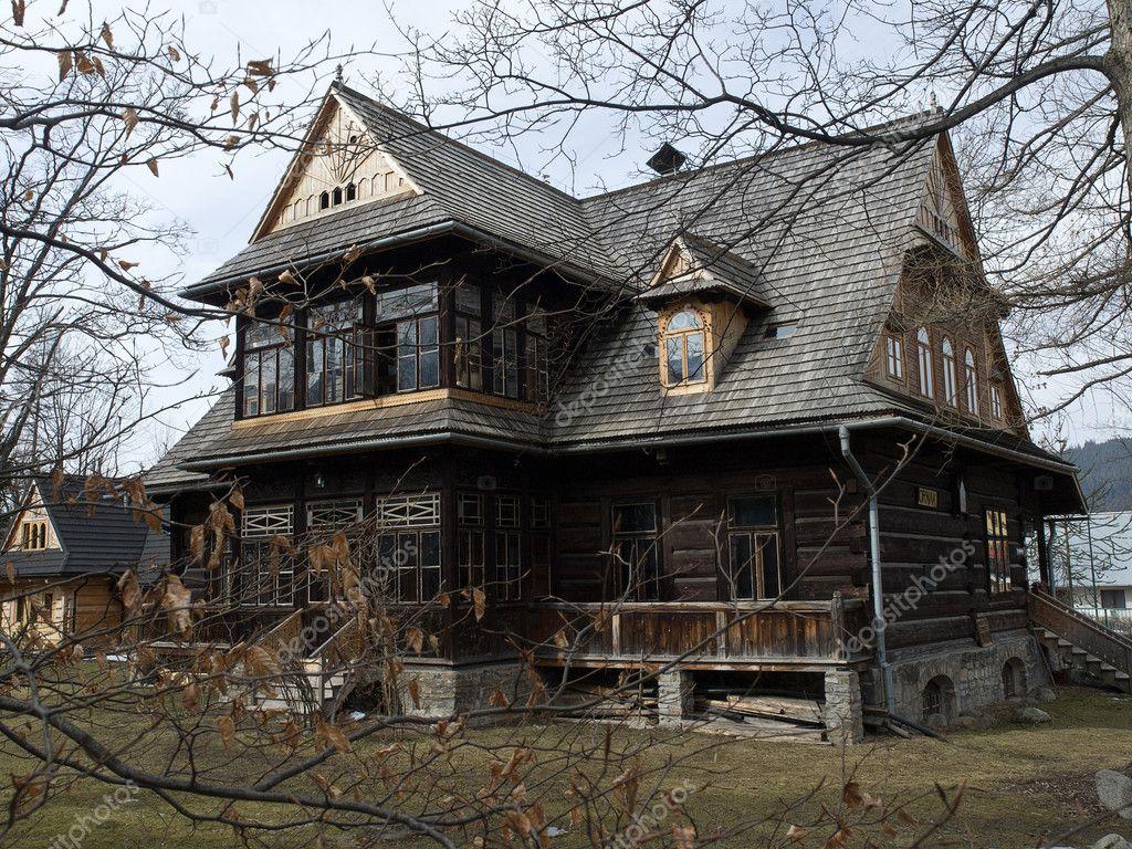 Floor Plans For Log Homes Old Wooden House Stock Photo 169 Wjarek 5411988