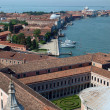 Venice - view from the tower of the church of San Giorgio Magiore - Stock Photo