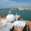 Venice - view from the tower of the church of San Giorgio Magiore — Foto de Stock